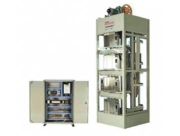 3四层实物电梯实训考核设备结构 1),井道柜架:相当于电梯附着的建筑物